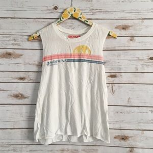 Stranger Things S White Muscle Tank Top Size Small